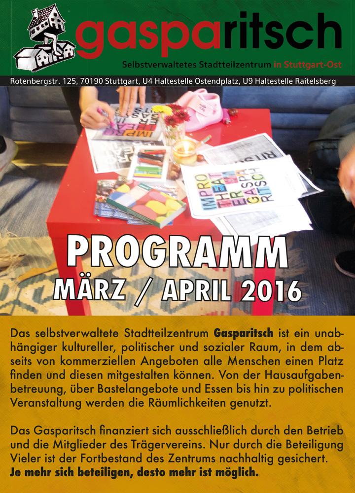 Programm März / April 2016