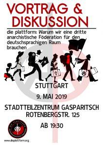 die plattform: Vortrag und Diskussion in Stuttgart @ Stadtteilzentrum Gasparitsch