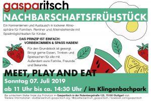 Nachbarschaftsfrühstück im Park @ Klingenbachpark