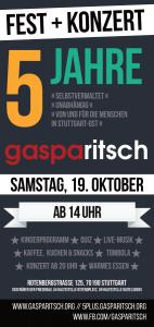 5 Jahresfest @ Stadtteilzentrum Gasparitsch