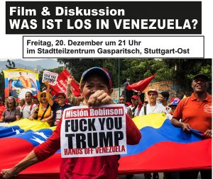 Film & Diskussion Was ist los in Venezuela? @ Stadtteilzentrum Gasparitsch